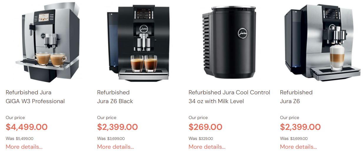 Refurbished Jura Coffee Machines