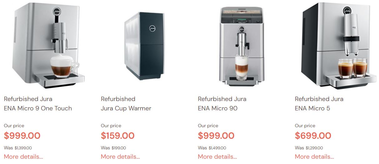 Refurbished Jura Espresso Coffee Machines Sales 2021