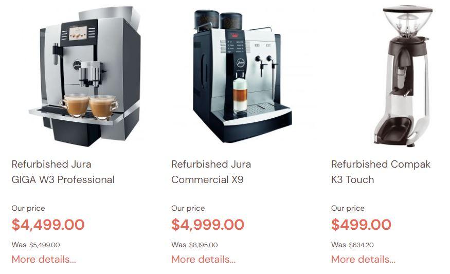 Jura Refurbished Coffee machines