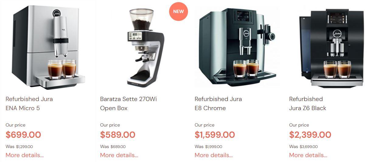 Refurbished Jura Coffee machines